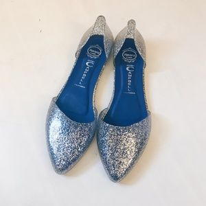 Jeffrey Campbell Clear Glitter Jelly Flats